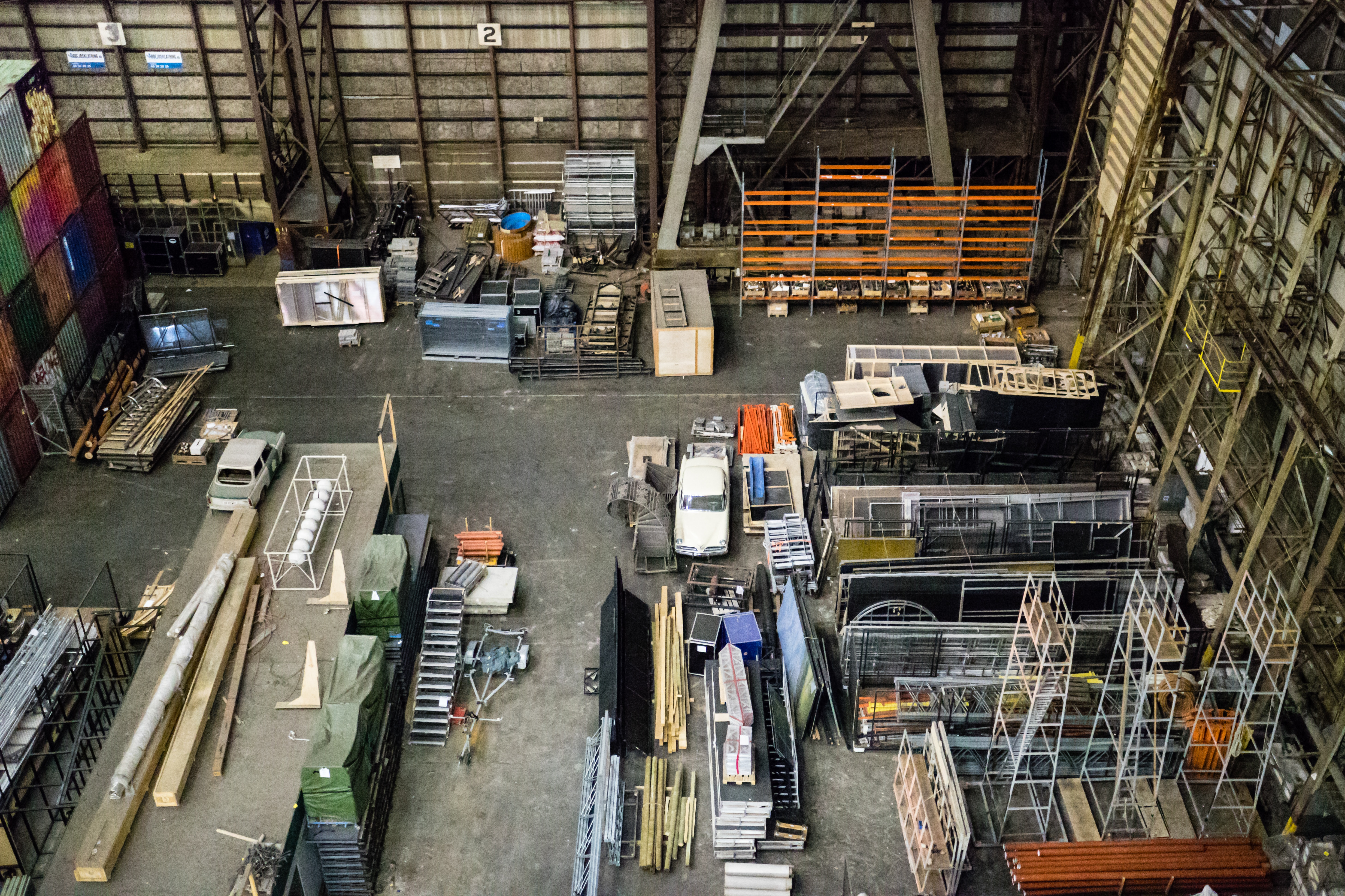 Manufacturing Plant Floor with objects scattered around the room