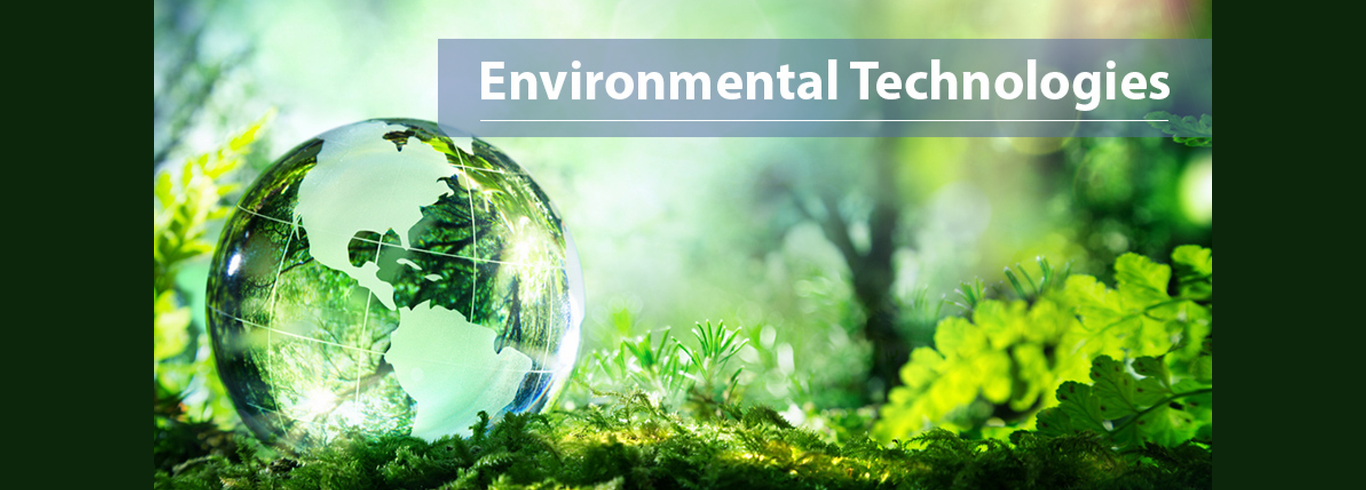 Environmental Technologies Banner with green globe