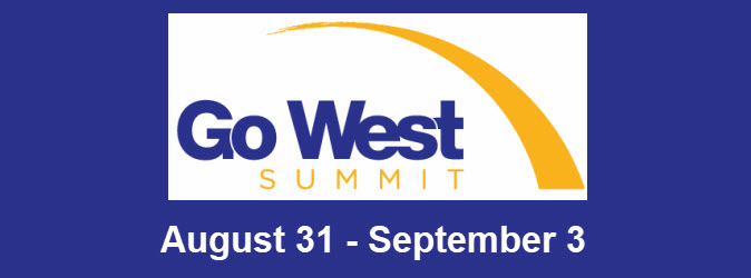 Logo for the Go West Summit 2020