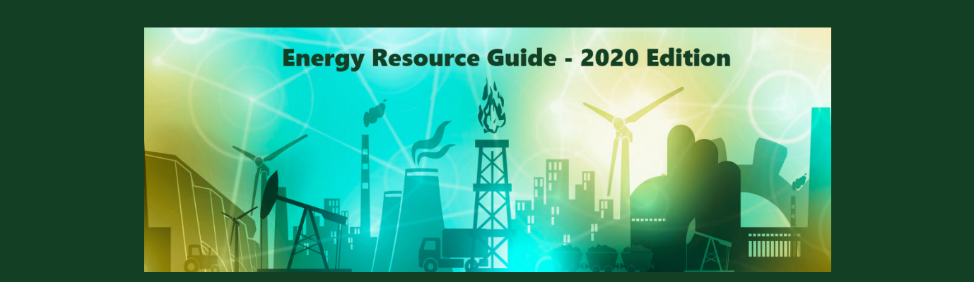 icons representing various energy sources and Energy Resource Guide Text