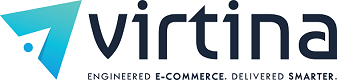 Virtina Company Logo for the eCommerce BSP Back-End Technology Section