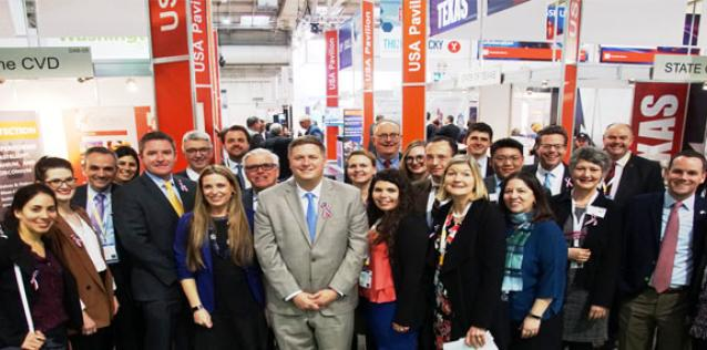 Photo of the CS staff at Hannover Messe
