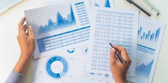 Image of data and charts for market research