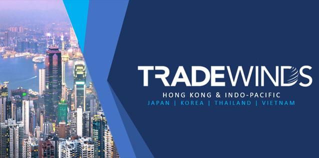 TradeWinds logo over cityscape